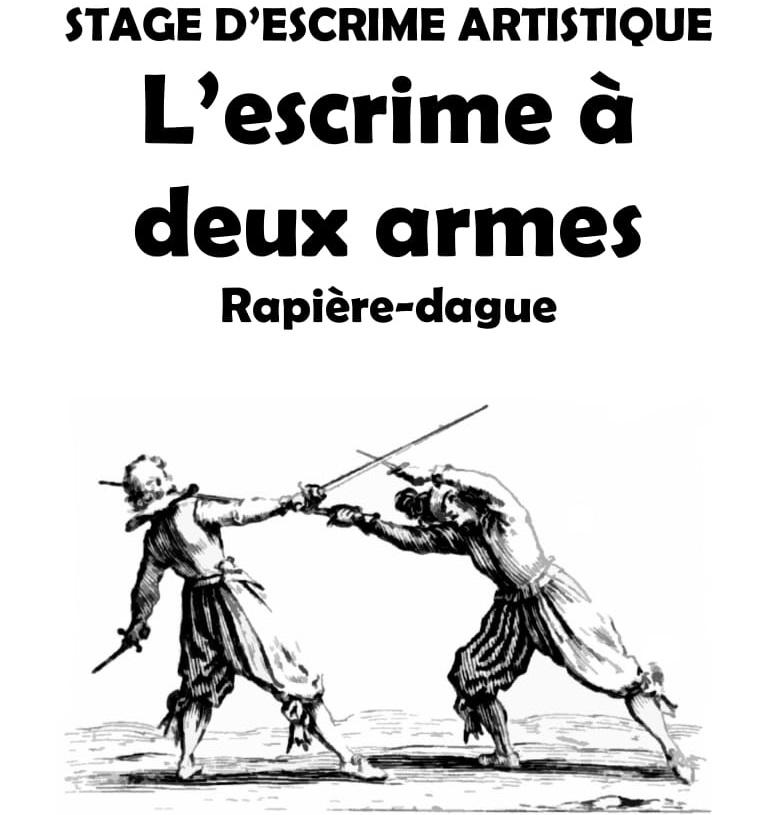 Stage d'escrime artistique 2 armes.Frédéric Trin